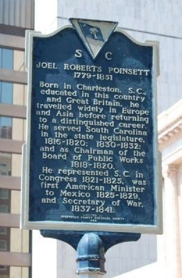 Joel Roberts Poinsett Marker -<br>Front image. Click for full size.