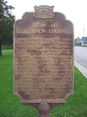 Home of Governor Harvey Marker image. Click for full size.
