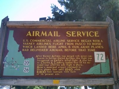 Airmail Service Marker image. Click for full size.