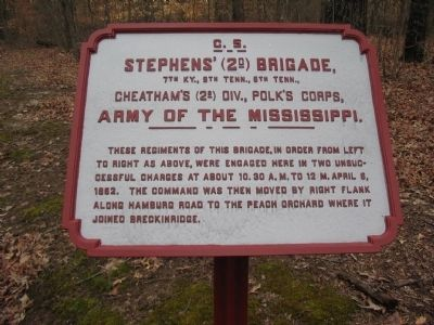 Stephens' Brigade Tablet image. Click for full size.
