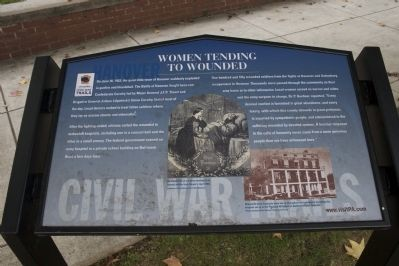 Women Tending to Wounded Marker image. Click for full size.