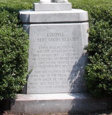 Base Only - - Colonel Albert Bacon Blanton - Statue image. Click for full size.