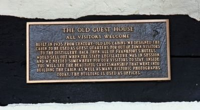 Sign - - The Old Guest House - - Built 1935 - Old'er Logs image. Click for full size.