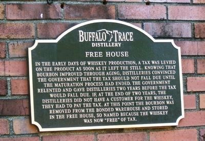 Buffalo Trace Free House Marker image. Click for full size.