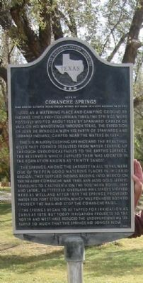 Site of Comanche Springs Marker image. Click for full size.