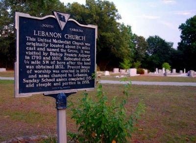Lebanon Church Marker and Cemetery image. Click for full size.