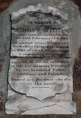 Tombstone for Dr. John C. Sullivan image. Click for full size.
