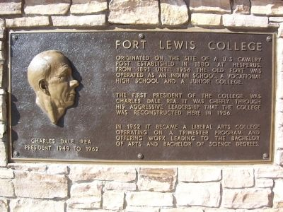 Fort Lewis College Marker image. Click for full size.