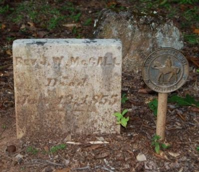 Rev. J.W. McCall Tombstone<br>United Methodist Minister image. Click for full size.