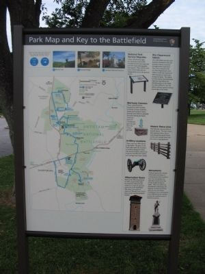 Park Map and Key to the Battlefield image. Click for full size.