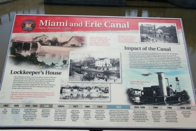 Miami and Erie Canal, New Bremen Marker image. Click for full size.