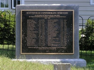 Scottsville Confederate Cemetery Marker image. Click for full size.