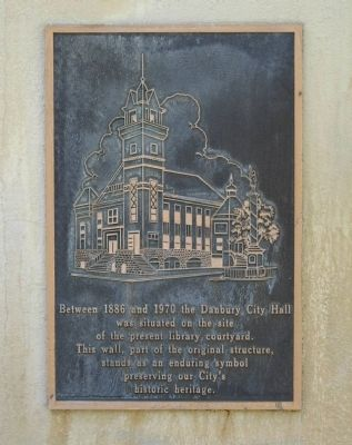 Danbury City Hall Wall Marker image. Click for full size.