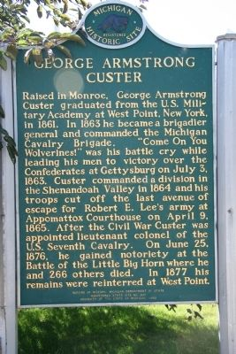 George Armstrong Custer Marker image. Click for full size.