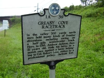 Greasy Cove Racetrack Marker image. Click for full size.