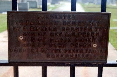 Fairview Cemetery Gate Marker image. Click for full size.