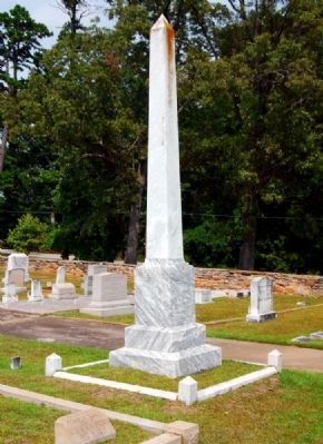 Peden Family Monument -<br>Southeast Corner image. Click for full size.