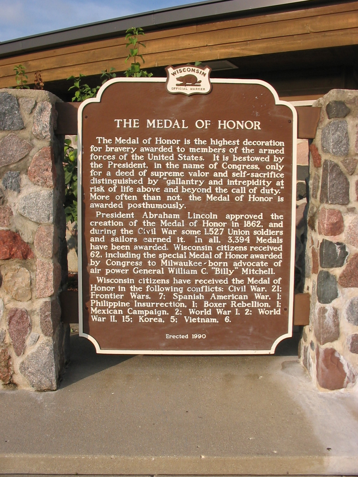 The Medal of Honor Marker