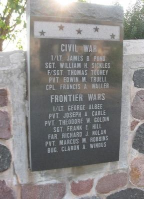 Civil / Frontier Wars Recipients image. Click for full size.
