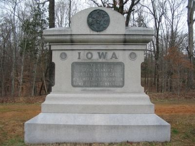 12th Iowa Infantry Regiment Monument image. Click for full size.