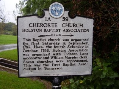 Cherokee Church Marker image. Click for full size.
