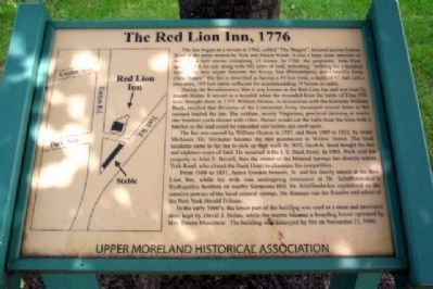 The Red Lion Inn, 1776 Marker image. Click for full size.