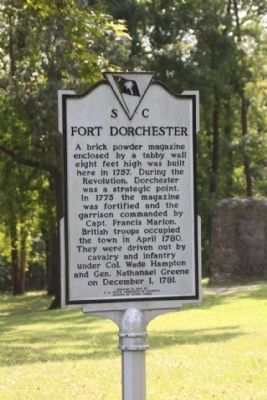 Fort Dorchester Marker image. Click for full size.