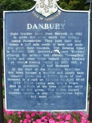 Danbury Marker </b>front image. Click for full size.
