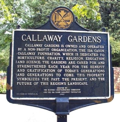 Callaway Gardens Marker, Side 2 image. Click for full size.