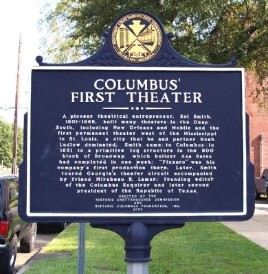 Columbus' First Theater Marker image. Click for full size.