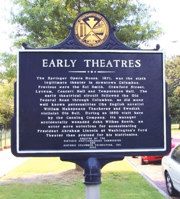 Side 2: Early Theatres Marker image. Click for full size.
