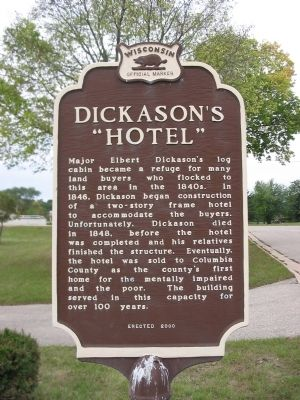 "Dickason&#39;s ""Hotel"" Marker <i>[east side]</i> image. Click for full size."