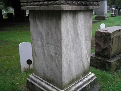 Wood Monument Marker (Right & Rear) image. Click for full size.