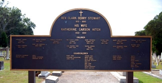 Rev. Clark Berry Stewart and Family Marker image. Click for full size.