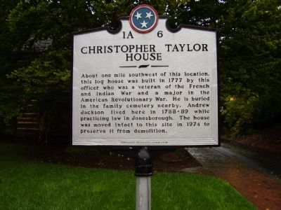 Christopher Taylor House Marker image. Click for full size.
