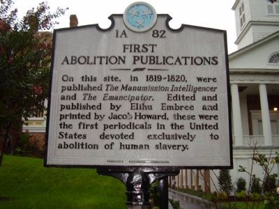 First Abolition Publications Marker image. Click for full size.
