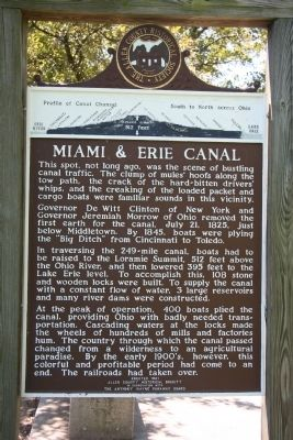 Miami & Erie Canal Marker image. Click for full size.