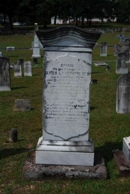 James A. Woodside M.D. Tombstone image. Click for full size.