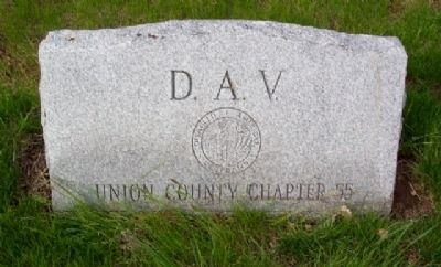 Union County Chapter 55 D.A.V. Veterans Memorial [front] image. Click for full size.