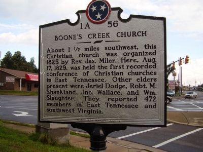Boone's Creek Church Marker image. Click for full size.