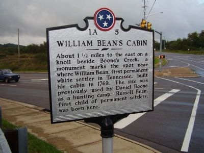 William Bean's Cabin Marker image. Click for full size.