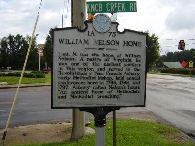 William Nelson Home Marker image. Click for full size.