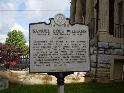 Samuel Cole Williams Marker image. Click for full size.