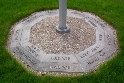 Veterans of Foreign Wars War Memorial Flagpole Base image. Click for full size.