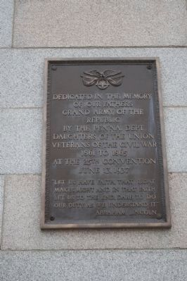 Marker is on the face of the right most pillar wall of the York County Administration Center. image. Click for full size.