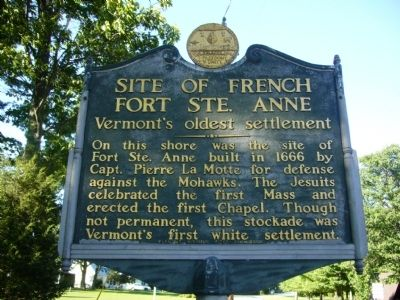 Site of French Fort Ste. Anne Marker image. Click for full size.