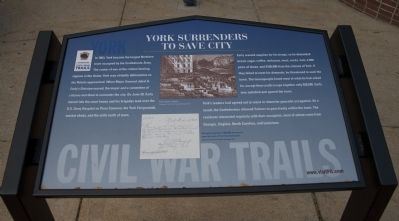 York surrenders to save city Marker image. Click for full size.