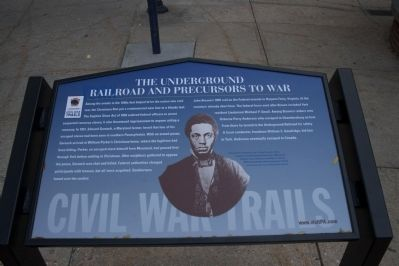 The Underground Railroad and Precursors to War Marker image. Click for full size.