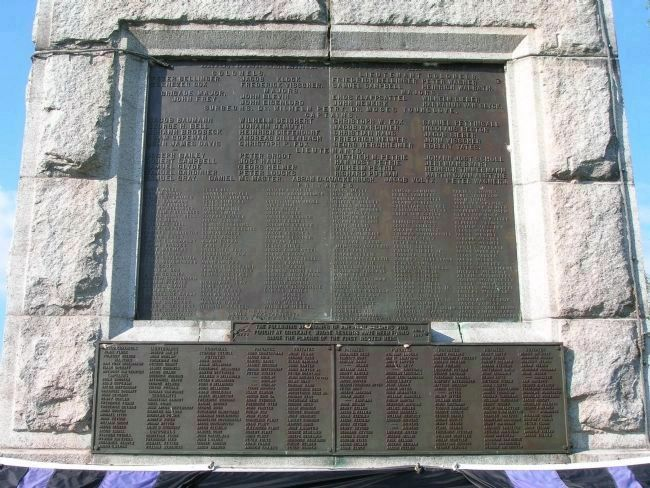 <center><b>The Oriskany Battle Monument: Detail - Northeast Plaques</b></center> image. Click for full size.