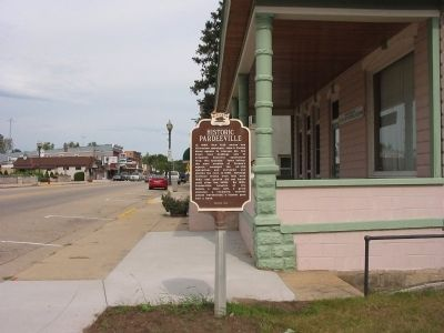 Historic Pardeeville / Belmont Hotel Marker image. Click for full size.